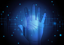 Abstract hand with technology background concept design Royalty Free Stock Image
