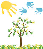 Abstract hand tree. Vector Background. Banner royalty free illustration