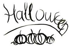 Abstract hand-written Halloween watercolour Royalty Free Stock Photos