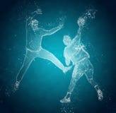 Abstract handball players royalty free illustration