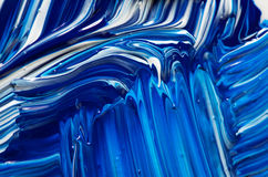 Abstract Handpainted Background in Blue and White Royalty Free Stock Photography