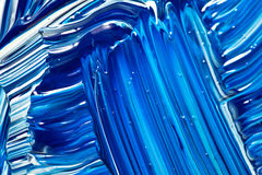 Abstract Handpainted Background in Blue and White Stock Photos