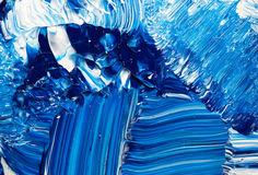 Abstract Handpainted Background in Blue and White Royalty Free Stock Image