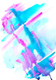 Abstract handpainted watercolor  background Royalty Free Stock Images