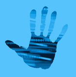 Abstract handprint Royalty Free Stock Image
