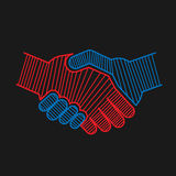 Abstract handshake for concept of partnership Royalty Free Stock Photo