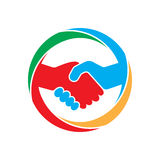 Abstract handshake icon. Vector illustration. Royalty Free Stock Photography