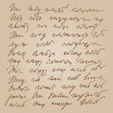 Abstract handwritted shorthand background Royalty Free Stock Image
