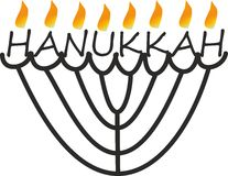 Abstract hanukkah with flame Stock Photos