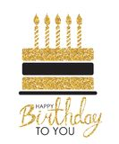 Abstract Happy Birthday Background Card Template with Cake Vector Illustration. EPS10 Royalty Free Stock Photography