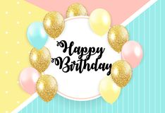 Abstract Happy Birthday Background Card Template Vector. Illustration EPS10 Stock Photography