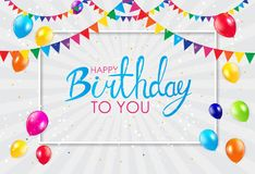 Abstract Happy Birthday Background Card Template Vector Illustration. EPS10 Stock Photos