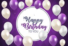 Abstract Happy Birthday Background Card Template Vector Illustration. EPS10 Stock Image