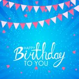 Abstract Happy Birthday Background Card Template Vector Illustration. EPS10 stock illustration