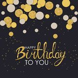 Abstract Happy Birthday Background Card Template Vector Illustration. EPS10 Stock Photo