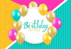 Abstract Happy Birthday Background Card Template Vector Illustration. EPS10 vector illustration
