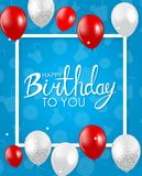 Abstract Happy Birthday Background Card Template Vector Illustration. EPS10 Royalty Free Stock Photos
