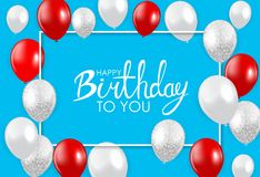 Abstract Happy Birthday Background Card Template Vector Illustration. EPS10 Stock Photography