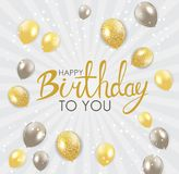Abstract Happy Birthday Background Card Template Vector Illustration. EPS10 Royalty Free Stock Photography