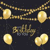 Abstract Happy Birthday Background Card Template Vector Illustration. EPS10 Stock Images