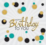Abstract Happy Birthday Background Card Template Vector Illustration. EPS10 Royalty Free Stock Image