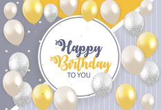 Abstract Happy Birthday Background Card Template Vector Illustra. Tion EPS10 Royalty Free Stock Images