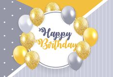 Abstract Happy Birthday Background Card Template Vector Illustra. Tion EPS10 Royalty Free Stock Photography