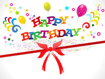 Abstract happy birthday background. Vector illustration Royalty Free Stock Photography