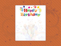 Abstract happy birthday background Stock Image