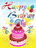 Abstract happy birthday background Royalty Free Stock Image