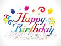 Abstract happy birthday background. Vector illustration Stock Photo