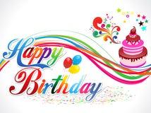 Abstract happy birthday background. Vector illustration Stock Photos