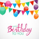 Abstract Happy Birthday Balloon Background Card Template Vector Illustration Royalty Free Stock Photo