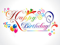 Abstract happy birthday card Royalty Free Stock Photos
