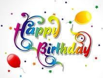 Abstract happy birthday card. Vector illustrator Stock Illustration