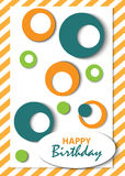 Abstract Happy Birthday card Royalty Free Stock Images