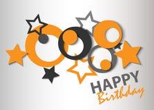 Abstract Happy Birthday card Royalty Free Stock Photos
