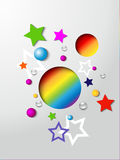 Abstract Happy Birthday card Stock Image