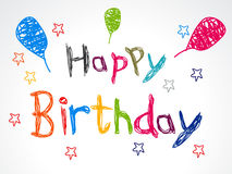 Abstract happy birthday concept Royalty Free Stock Images