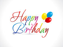 Abstract happy birthday text Stock Photo