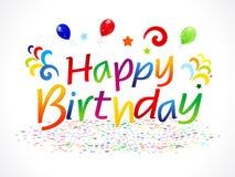 Abstract happy birthday text Stock Photo