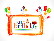 Abstract happy birthday text Royalty Free Stock Photography