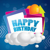 Abstract happy birthday vector background Royalty Free Stock Image