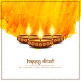 Abstract Happy Diwali bright background. Abstract Happy Diwali yellow color background stock illustration