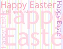 Abstract Happy Easter Backgrond. A background illustration featuring the words 'Happy Easter' casually arranged in a variety of colours and opacities with Royalty Free Stock Photo
