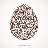 Abstract Happy Easter Lettering in Form of Egg Royalty Free Stock Photo