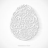 Abstract Happy Easter Lettering in Form of Egg Royalty Free Stock Images