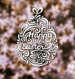 Abstract Happy Easter Lettering in Form of Egg Royalty Free Stock Photography