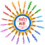 Abstract happy holi background  for festival of colors celebration greetings Stock Photos