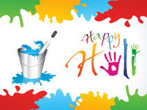 Abstract happy holi background. Vector illustration Stock Photos